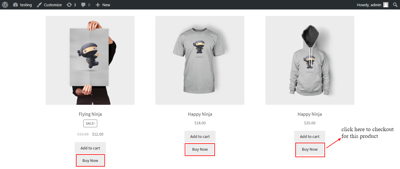 woocommerce one page checkout shop page front end