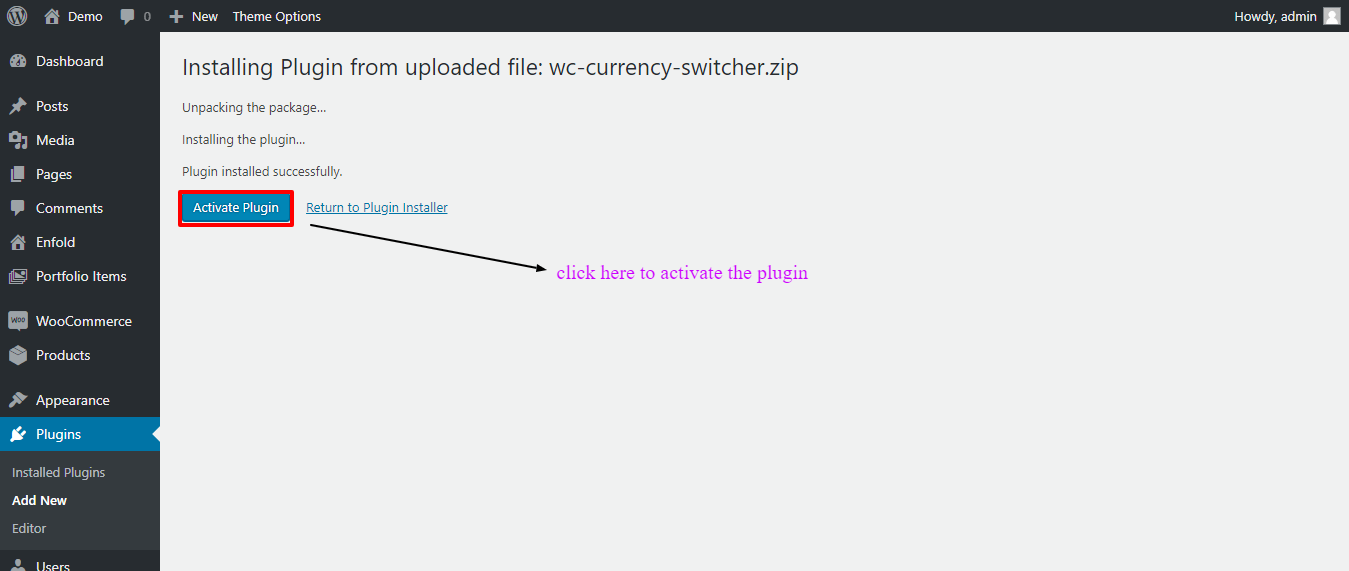 Activate Woocommerce Currency Switcher