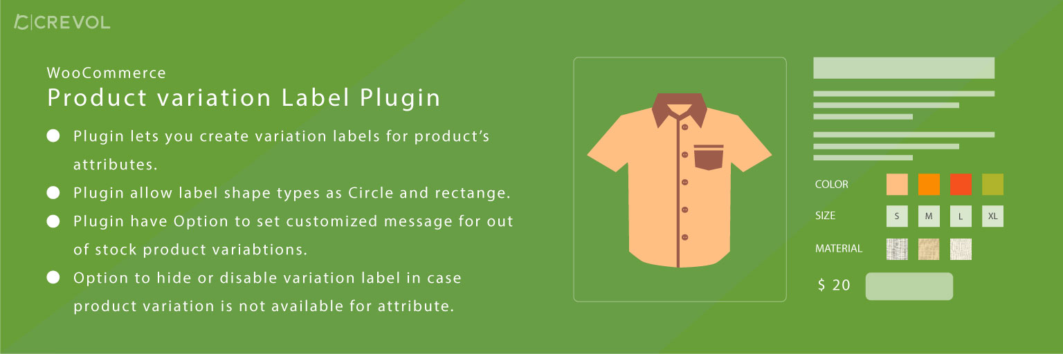Woocommerce Product Variations Label