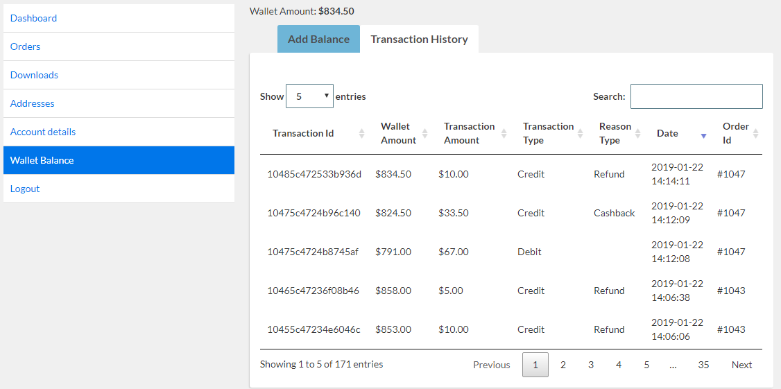 Woocommerce Wallet System for digital currency exchange