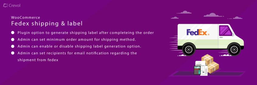 fedex shipping label banner